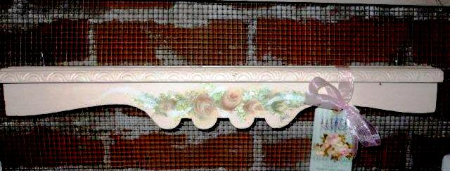 Hand Painted Roses on Door / Picture Crown